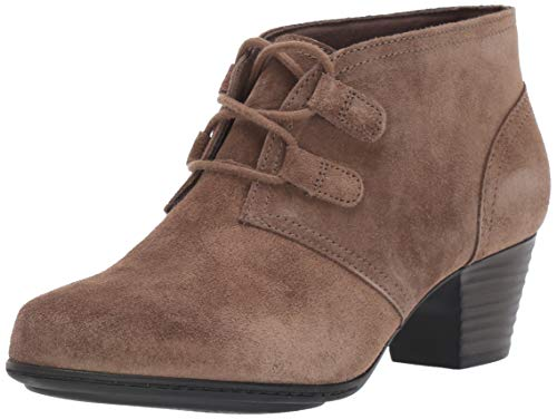 Clarks Women's Valarie Code Ankle Boot, Olive Suede, 110 M US
