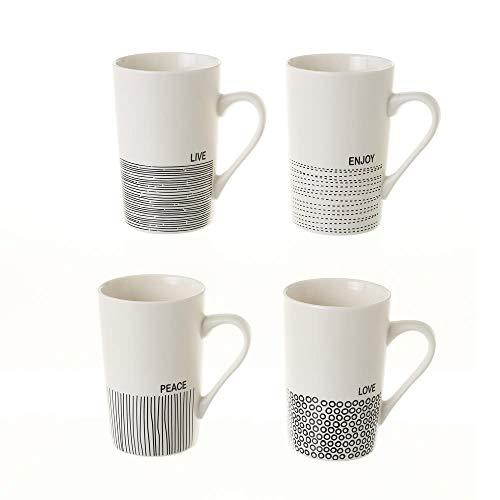 Tazas Mug de Desayuno Tazas para Café con Frases Personalizadas Pack4 Color...