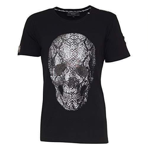 Roberto Geissini Unisex Skull Snake Black L