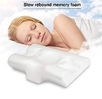睡眠のため首の痛み、人間工学に基づいて設計事務所首枕のメモリ泡の輪郭枕 - 整形外科ネックサポート枕 -,57*40*12/9cm