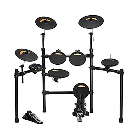 Kit de tambor electrónico plegado,rack y fámódulo de tambor, con 20 modos de entrenador para aprender y 361 sonidos de batería electrónico/acústico, el mejor regalo para niños/principiantes