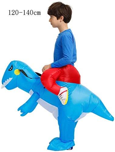 Qfeng Halloween Kostuums Dinosaur Opblaasbaar Kostuum voor volwassenen en kinderen, T-Rex Kostuum Adult Size Dinosaur pak