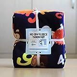 Counting Animals Anti-Pill No-Sew Throw Fleece Fabric Kit (72x60)
