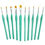 Paint Brushes with Ergonomic Handle - Acrylic Paint Brush Set, Watercolor Paint Brush Set of 10