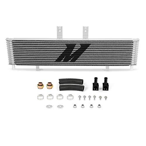 Mishimoto MMTC-DMAX-06SL Transmission Cooler Compatible With Chevrolet/GMC Duramax 6.6 LBZ/LMM 2006-2010 Silver