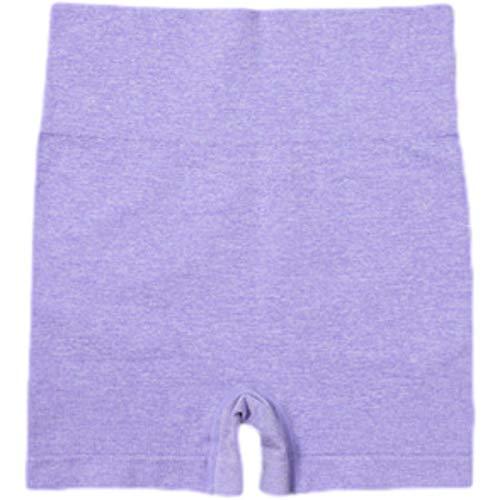 Pantalones Cortos Deportivos de Yoga con Costura sin Costuras a la Moda para Mujer, Pantalones Cortos Deportivos elásticos cómodos de Cintura Alta para Correr, Entrenamiento, Ciclismo Large