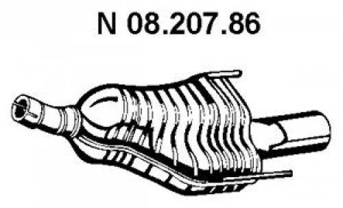 Eberspächer 08.207.86 Endschalldämpfer