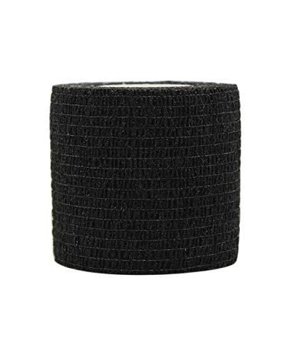 Risscly Negro 5cm venda cohesiva autoadhesivas cinta venda adhesiva cinta adhesiva deportiva deportivas 12 rollos