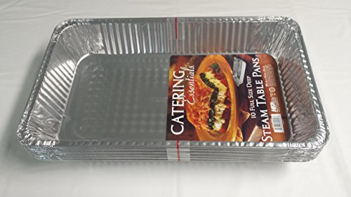 Extra Large Disposable Aluminium Foil Baking/Roasting Pan/Tray (Gastronorm) Full Size Deep Pack of 10 (Foil Lid available sold separately)