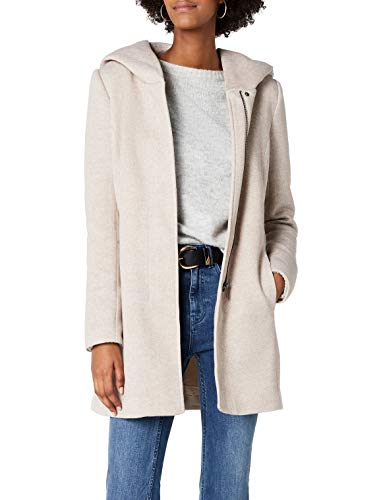 ONLY Damen onlSEDONA Light Coat OTW NOOS Mantel, Braun (Etherea Detail:Melange), 34 (Herstellergröße: XS)