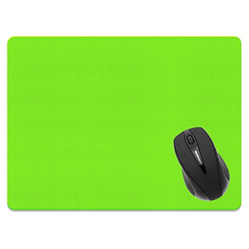 Extra Large (X-Large) Size Non-Slip Rectangle Mousepad, FINCIBO Solid Green Mouse Pad for Home, Office and Gaming Desk