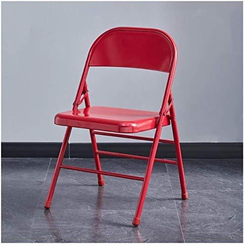 Estructura de la silla plegable que permite ahorrar espacio for trabajo pesado del metal del acero silla de respaldo for jardín Oficina de visitantes, visitantes y Conferencia (Color: 11), Color: 10