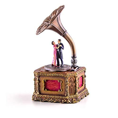 Hong Yi Fei-Shop Caja Musical Caja de música giratoria de Resina Regalo Navidad/Cumpleaños/Día de San Valentín Caja de música