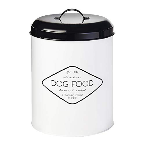metal dog food storage container