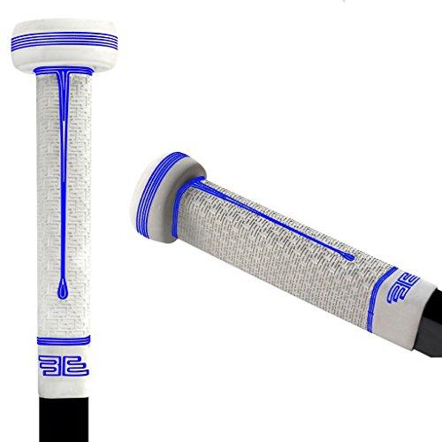 Buttendz Sentry Goalie Hockey Stick Replacement Grip (White with Blue Drip)