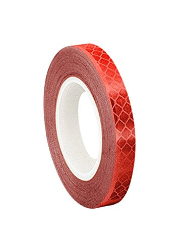 3M 3432 Red Micro Prismatic Sheeting Reflective Tape, 0.5' width x 5yd length (1 roll)