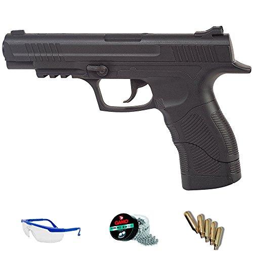 DAISY Pack Pistola de Aire comprimido 415 - Arma de CO2 y balines BBS (perdigones de Acero) <3,5J
