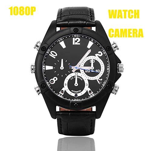 2019, modisches Lederarmband, versteckte Spionagekamera, Uhr, Mini-Camcorder, CMR Full HD 11080P, IR-Nachtsicht-Armbanduhr, DVR, Sprachaufnahme, Uhren, 16G-Ugetde