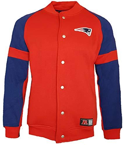 Majestic New England Patriots NFL Jeiter Fleece Letterman Jacke Gr. M, rot