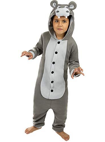 Funidelia | Disfraz de hipopótamo Onesie para niño y niña Talla 10-12 años ▶ Animales - Color:...
