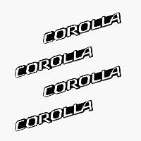4 個カーオーディオ飾る 3D アルミバッジエンブレムステッカートヨタカローラカム RAV4 ヤリスプリウス車のスタイリング