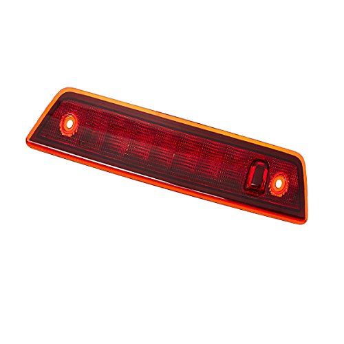 Red Lens 3rd Third Brake Light for 2005-2010 Jeep Grand Cherokee High Mount Stop Lights