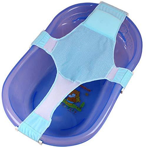 Vektenxi Infant Baby Mesh Einstellbar Badesitz Badesitz Unterstützung Sicherheit Kreuz Duschnetz Badesitz 1 STÜCKE Blau