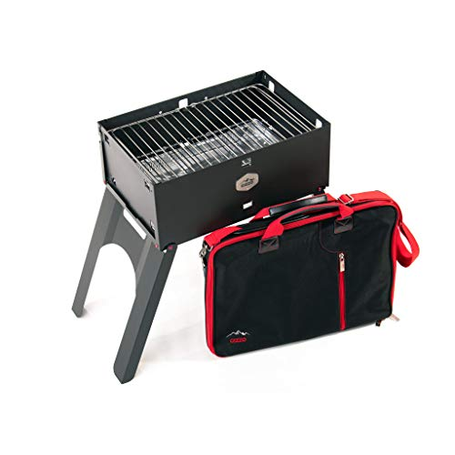 Innovativster BBQ-Grill Gizzo, Tragbare Grill, Mobiler Holzkohlegrill, Transportabler, Camping, Picknick Barbecue