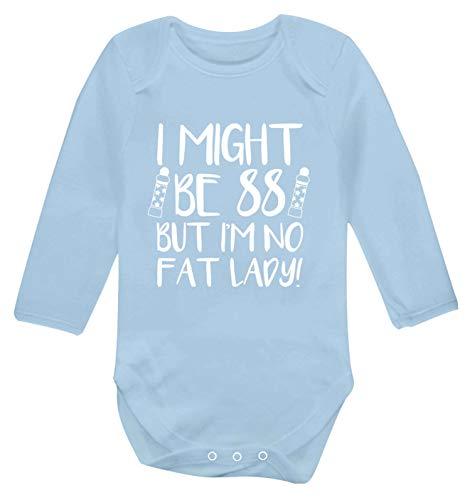 Flox Creative Body à manches longues pour bébé I'm 88 But No Fat Ladyo - Bleu - XS