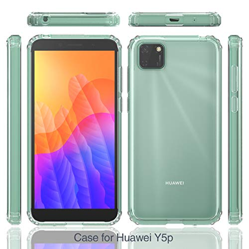betterfon   Huawei Y5P Hülle Stoßfeste Outdoor Transparent Cover Handy Tasche Silikon Case TPU Silikon Kristal Schutzhülle für Huawei Y5P
