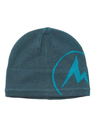 Marmot Summit Hat Bonnet en Laine mélangée avec Doublure Bandeau en Micropolaire au Niveau du Front Homme Stargazer/Enamel Blue FR: Taille Unique (Taille Fabricant: One)