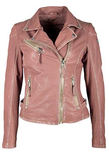 Gipsy Mauritius Lederjacke Damen rosa - L