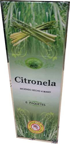 La Casa de los Aromas 45031 Incienso Citronela, 6 Paquetes de 20 Varillas, Verde Marron, 25.5 x 9 x 6 cm