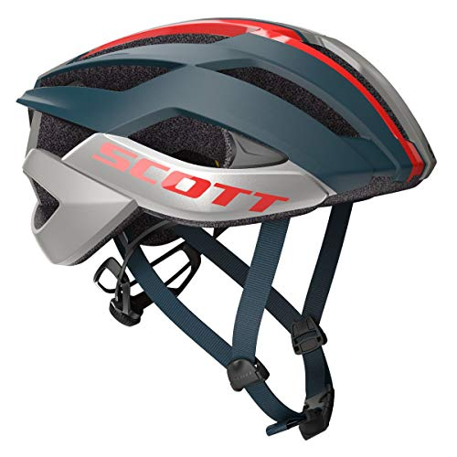 Scott Arx Plus 2019 - Casco para Bicicleta de Carreras, Color Azul y Rojo