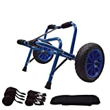 Nooew Kayak Cart Kayak Trolley Carrier Dolly Trailer for Canoe Boat with NO-Flat Airless Tires Wheels