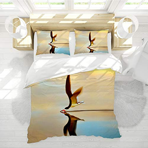 SHJIA Doppelschichtiger Bettbezug Mit 3D-H&emuster, Leicht zu pflegen, Braun-Beige Übergroßer Doppelschicht-Bettbezug, Bettbezug Mit Reißverschluss, Dreiteiliger Anzug 240 * 260cm