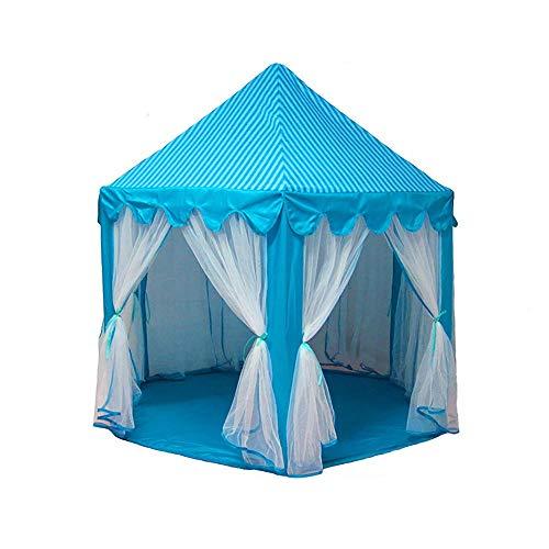 Portable Tente for Enfants Jouer Tente Extérieur Intérieur Jeux De Folding Lodge Enfants Balls Piscine Playhouse Princess Girl Château De Dreamful 0911 (Color : Blue)