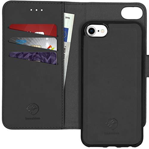 Funda Tipo Libro extraíble de 2 a 1 para Samsung Galaxy S10, Compatible con iPhone 6 / 6s, iPhone 7, iPhone 8 (Fabricado en Piel sintética.), Color Negro