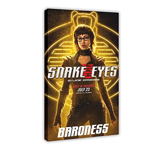 Action Movie Snake Eyes G.I. Joe Origins 4 poster su tela, decorazione da parete per soggiorno, camera da letto, 60 x 90 cm