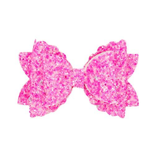 Pince à cheveux noeud pour enfants papillon (Hot Pink)