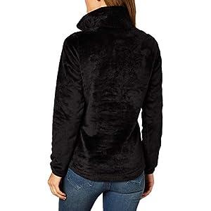 The North Face Women's Osito ¼ Zip Pullover, TNF Black, M