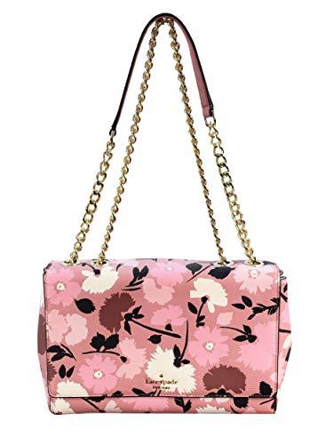 Kate Spade Briar Lane Quilted Leather Medium Convertible Shoulder Bag Purse Handbag, Rosy Cheeks