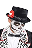 AMSCAN Day of the Dead Top Hat Halloween Costume Accessories, One Size