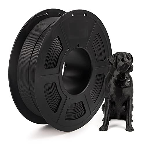 IEMAI Filamento de fibra de carbono PLA de 1,75 mm, para impresora 3D, relleno con 20% de fibra de carbono, negro mate, bobina de 1 kg