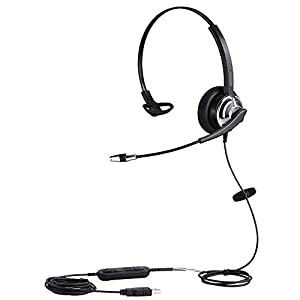 USB Headset with Noise Cancelling Microphone and Volume Controller for Conference Calls Softphone Conversation Clear Chat Online Course etc