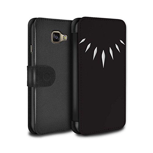 Stuff4 PU-Leder Hülle/Case/Tasche/Cover für Samsung Galaxy A5 (2016) / T'Challa Klauenhalskette Muster/Schwarzer Panther Inspiriert Kollektion