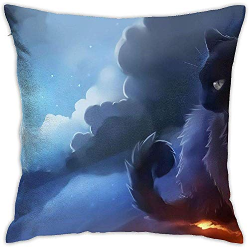 Babydo Pillow Cover Cat Warrior Daily Kissenbezug 45X45Cm Dekorationen Kissenbezüge Dekokissen Fall Sofa Mit Reißverschluss