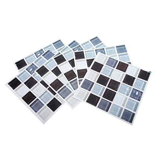 KUIDAMOS Papel Pintado, Pegatina de Mosaico 6 Piezas Pegatina de Pared para decoración de Sala de Estar para Dormitorio decoración de baño de Cocina