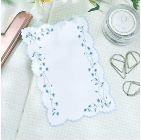 TTBH Farbe Spitze Lesezeichen Papier Rose Cherry Edge Flower Junk Journal Tagebuch Planer Scrapbooking DIY Craft Paper8Pcs