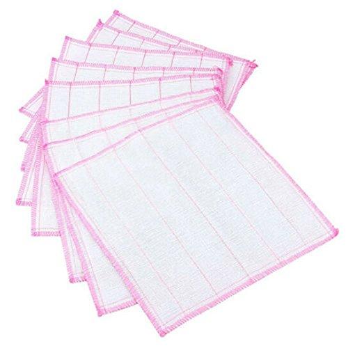 pack de 10 serviettes Coton riche cuisine torchons chiffon de nettoyage plat séchage